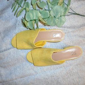 NEW - New York & Co. Yellow Open-Toe Heels